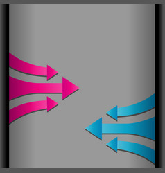 move forward pink and blue arrows vector image