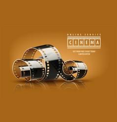 Movie cinema film reel vector