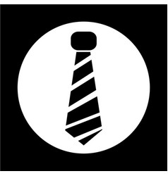 necktie icon vector image