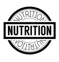 Nutrition rubber stamp vector