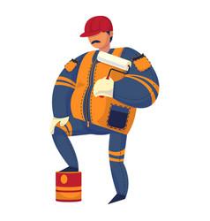paint foreman icon cartoon style vector image