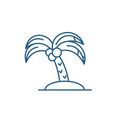 palm line icon concept palm flat symbol vector image