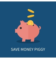 Piggy bank and gold coins vector