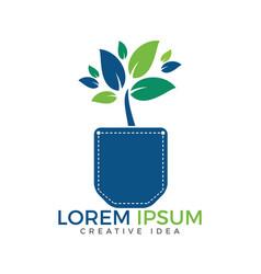 pocket tree design vector image