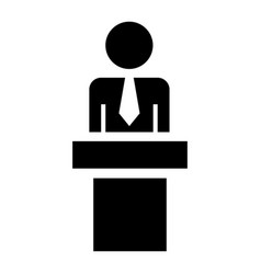 political candidate icon simple style vector image