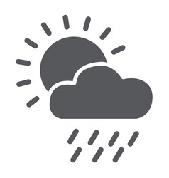 rain glyph icon day and sky weather sign vector image