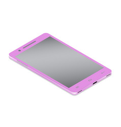 Realistic glamor pink smartphone cellular in vector