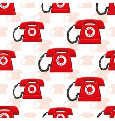 red retro phones vector image