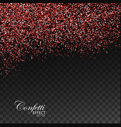 Red ruby confetti glitters vector