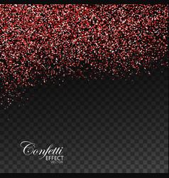 red ruby confetti glitters vector image