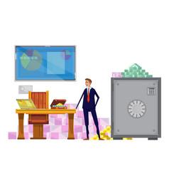 Rich financial clerk composition vector
