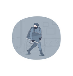 robbery thief and crime concept vector image