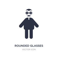 Rounded glasses icon on white background simple vector