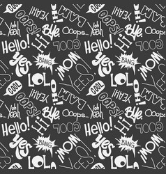 seamless fashion sketch hand drawn pattern vector image