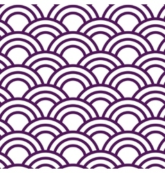 Seamless wave japanese pattern in white and violet vector image