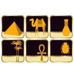 set flat icons egypt vector image
