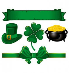 set to St Patrick's day vector image
