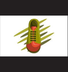 shoes back to school template vector image