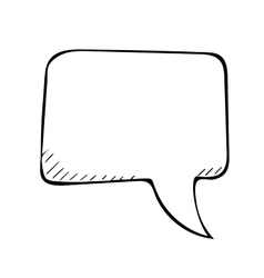 Sketchy speech bubble doodle vector