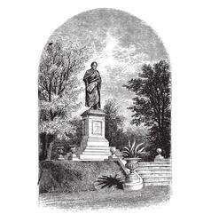 Statue of benton vintage vector