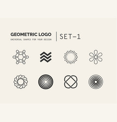 Universal shapes for your design vector