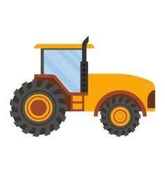 Vehicle tractor farm vector image