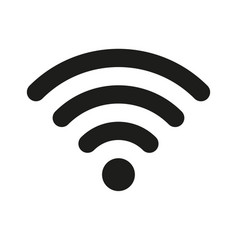 wifi wireless internet signal flat icon for apps vector image