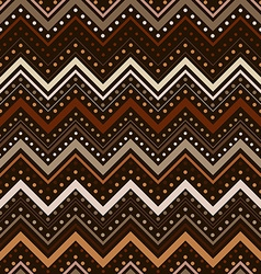 Zig zag pattern with lines and dots in brown tones vector