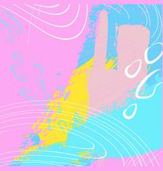 colorful splash background fashion vector image