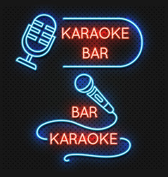 roadside karaoke night club signboard vector image vector image