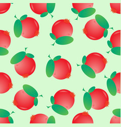Seamless cranberry pattern berry background vector