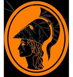 stencil of athena profil vector image
