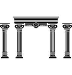 fantasy arch and columns stencil sixth variant vector image vector image