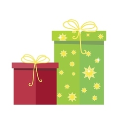 Gift boxes icon in flat style design vector