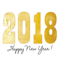 gradient gold 2018 happy new year vector image