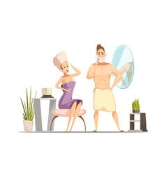 hair removal depilation family cartoon vector image vector image
