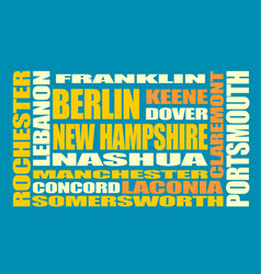 new hampshire state cities list vector image