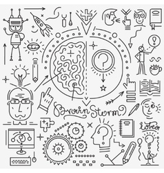 Thinking science - set icons vector image vector image