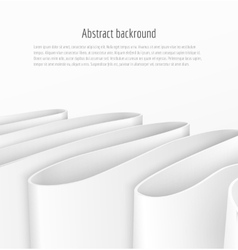 Abstract 3d white paper ribbon background vector image vector image