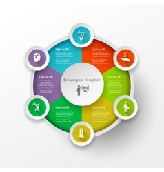 Circle infographic concept vector image vector image