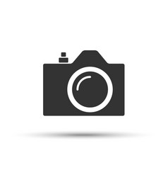 common slr camera icon sign placed on white vector image