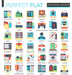 electronic devices and gadgets complex flat vector image vector image