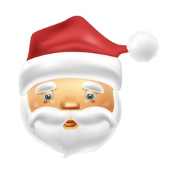 Face of Santa Claus in vector image vector image