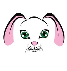 muzzle-bunny vector image vector image