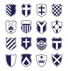 set of shields isolated on white vector image vector image