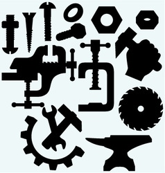 Set of tools vector image vector image