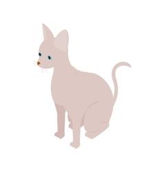Sphinx cat icon isometric 3d style vector image