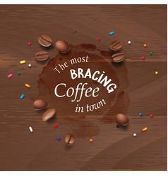 A coffee stain streaks vector