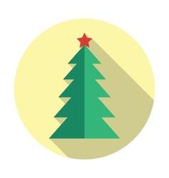 Christmas tree flat icon vector image