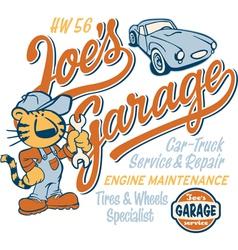 Joe Tiger garage vector image vector image
